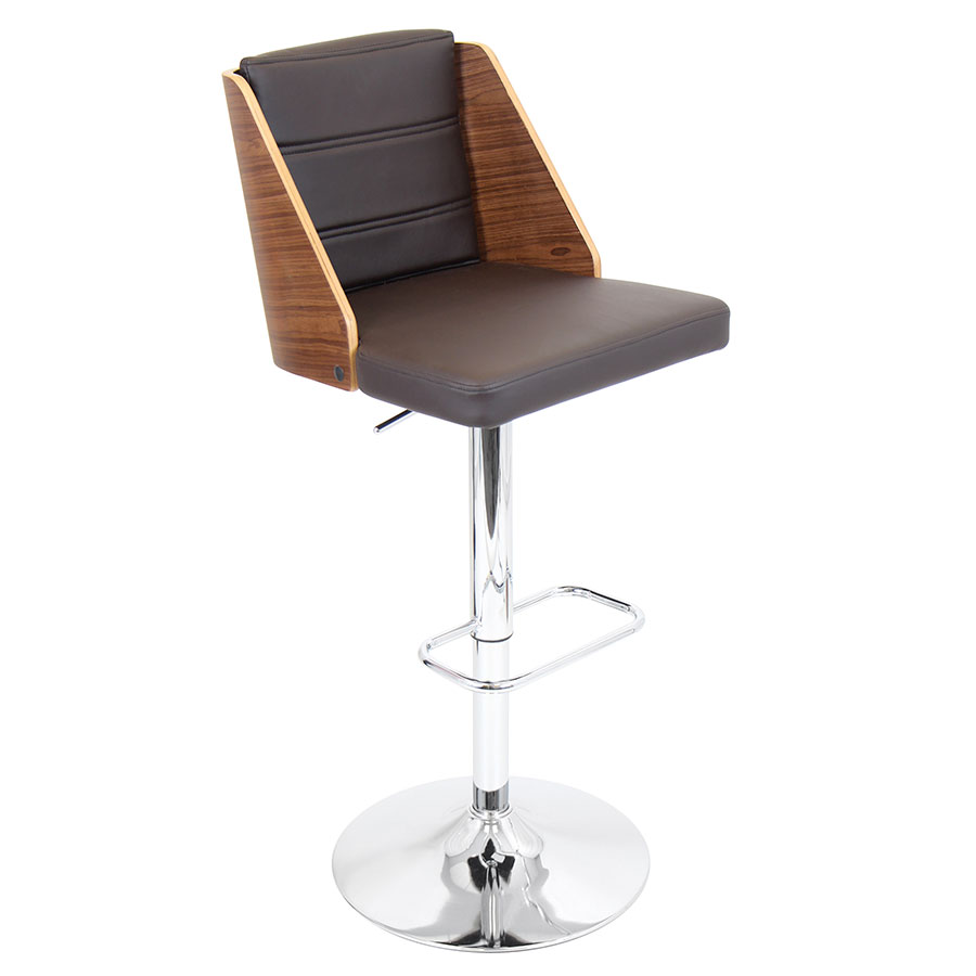 Galen Brown Modern Adjustable Bar Stool
