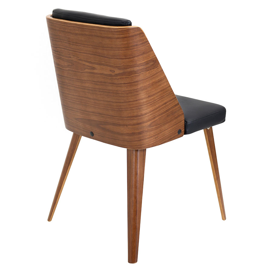 Galen Walnut + Leatherette Contemporary Side Chair