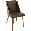 Galen Modern Side Chair in Brown