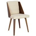 Galen Modern Side Chair in Cream