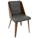 Galen Modern Side Chair in Gray