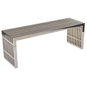 Galvano Modern Polished Steel 46 inch Bench