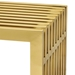 Galvano Modern Gold Steel 60 in Bench - Detail View