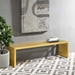 Galvano Contemporary Gold Steel Bench