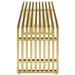 Galvano Modern Gold Steel 60 in Bench - Side View