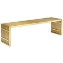 Galvano Modern Gold Steel 60 in Bench