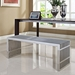 Galvano Contemporary Polished Steel Dining Bench