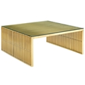 Galvano Modern Gold Steel Coffee Table