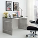 Galvano Contemporary Stainless Steel Desk