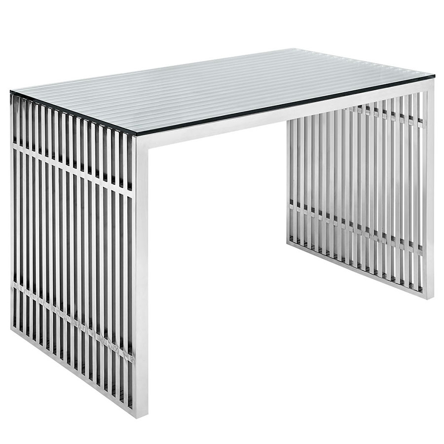 Galvano Modern Stainless Steel Desk