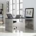 Galvano Modern Polished Stainless Steel Dining Table / Desk