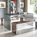 Galvano Contemporary Stainless Steel Dining Table / Desk