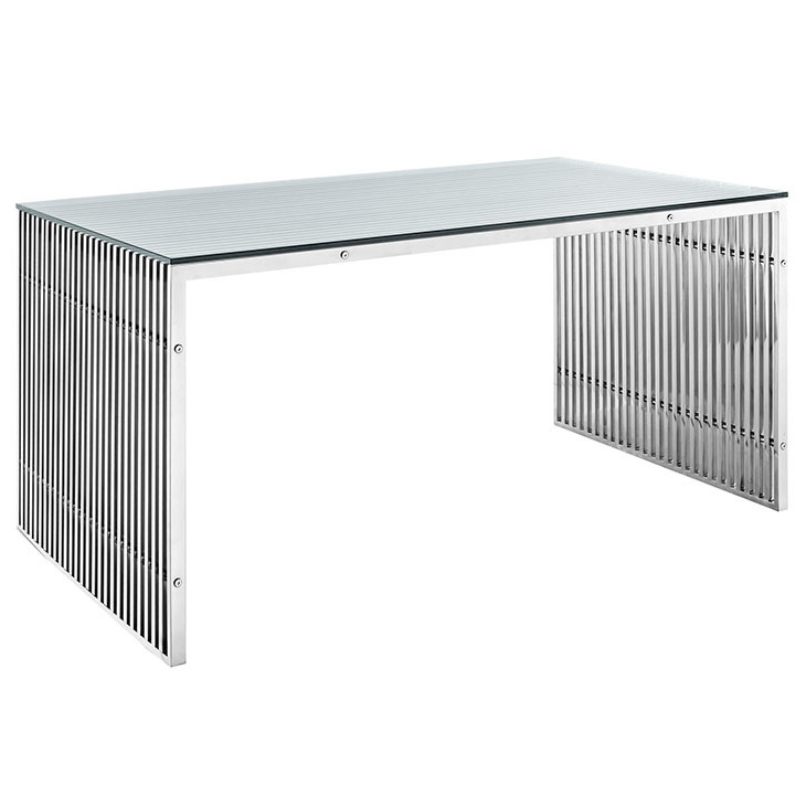 Galvano Modern Stainless Steel Dining Table / Desk