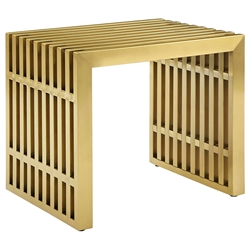 Galvano Modern Gold Steel End Table