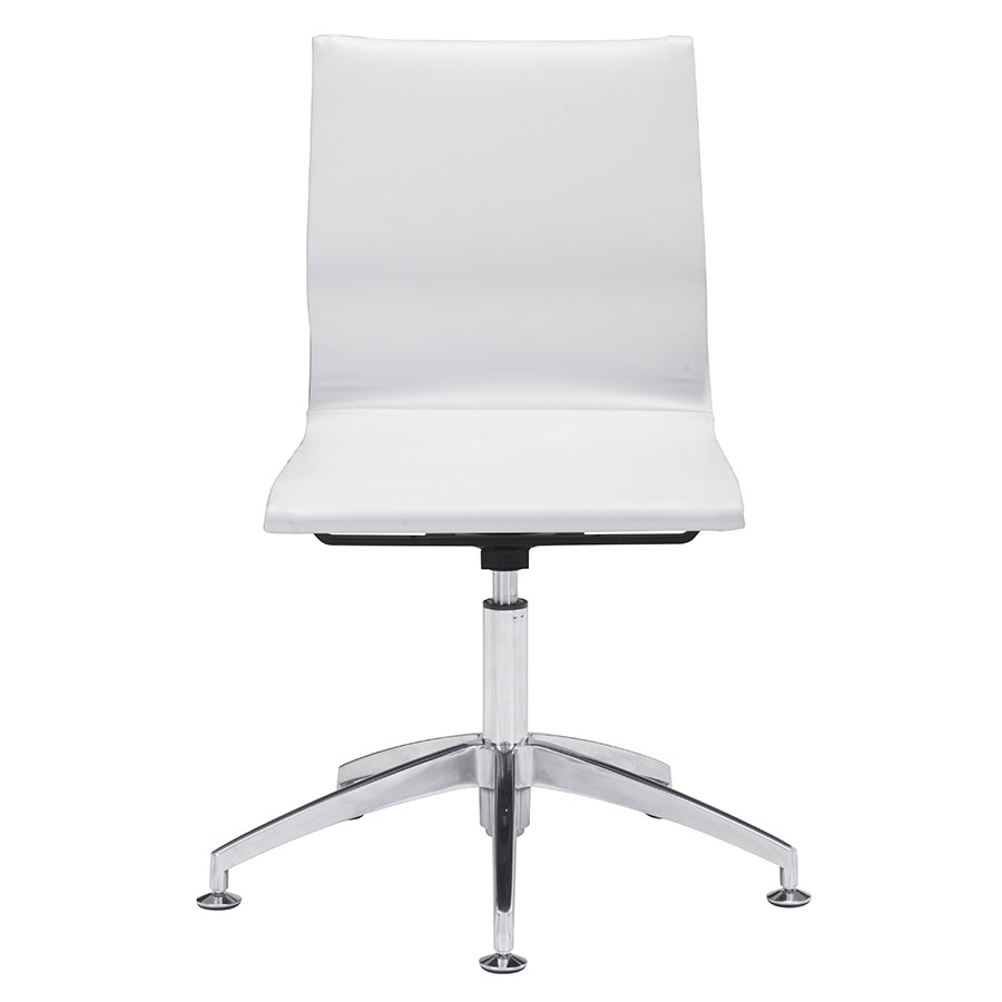 Gamila White Contemporary Conference Chair