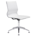 Gamila White Modern Conference Chair