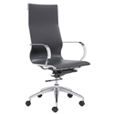 Gamila Black Modern High Back Office Chair