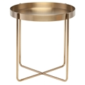 Garrison Gold Steel Modern End Table