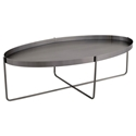 Nuevo Gaultier Oval Modern Coffee Table in Brushed Graphite