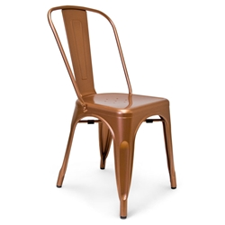 Gavin Industrial Rustic Modern Copper Dining Chair