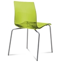 Gel-b Modern Green Dining Chair by Domitalia