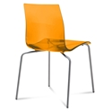 Gel-b Modern Orange Dining Chair by Domitalia