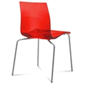 Gel-b Modern Red Dining Chair by Domitalia