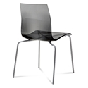 Gel-b Modern Smoke Dining Chair by Domitalia