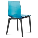 Domitalia Gel-L Side Chair in Blue + Anthracite