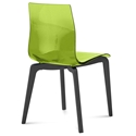 Domitalia Gel-L Side Chair in Green + Anthracite