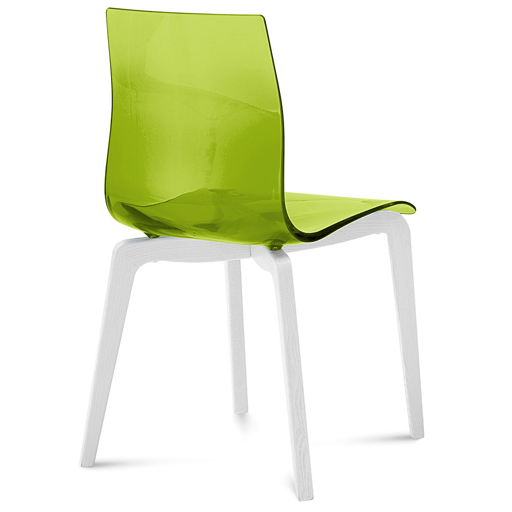 Domitalia Gel-L Green + White Modern Dining Chair