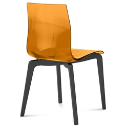 Domitalia Gel-L Side Chair in Orange + Anthracite