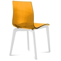 Domitalia Gel-L Orange + White Modern Dining Chair