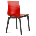 Domitalia Gel-L Side Chair in Red + Anthracite