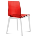 Domitalia Gel-L Red + White Modern Dining Chair
