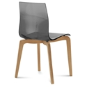 Domitalia Gel-L Side Chair in Smoke + Light Oak