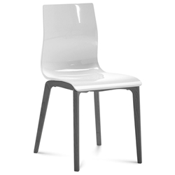 Domitalia Gel-L Side Chair in White + Anthracite