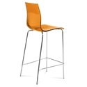 Gel-Sga Orange Modern Bar Stool by Domitalia