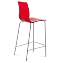 Gel-Sga Red Modern Bar Stool by Domitalia