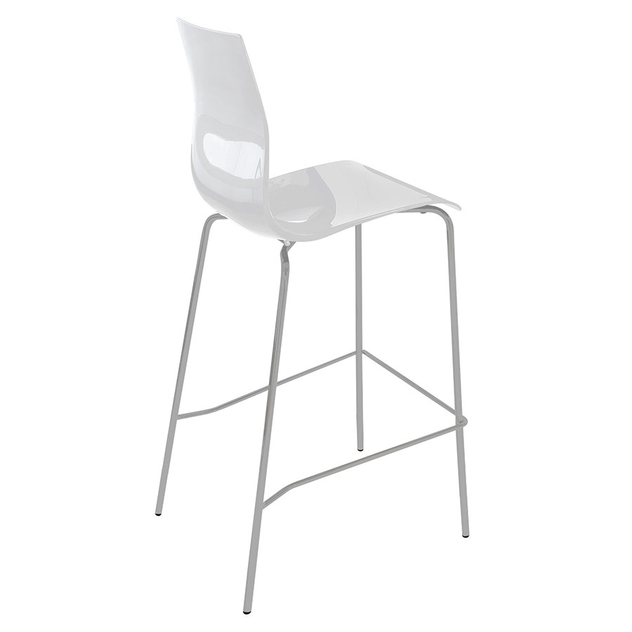 Gel-Sga White Modern Bar Stool by Domitalia