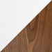Gemini Modern Walnut + White Counter Stool - Material Swatch