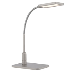 Gemma Satin Nickel Modern LED Desk Lamp