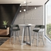 Genesis Modern Bar Height Table by Amisco in Dayglam