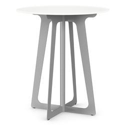 Genesis Modern Round Bar Table in Dayglam by Amisco