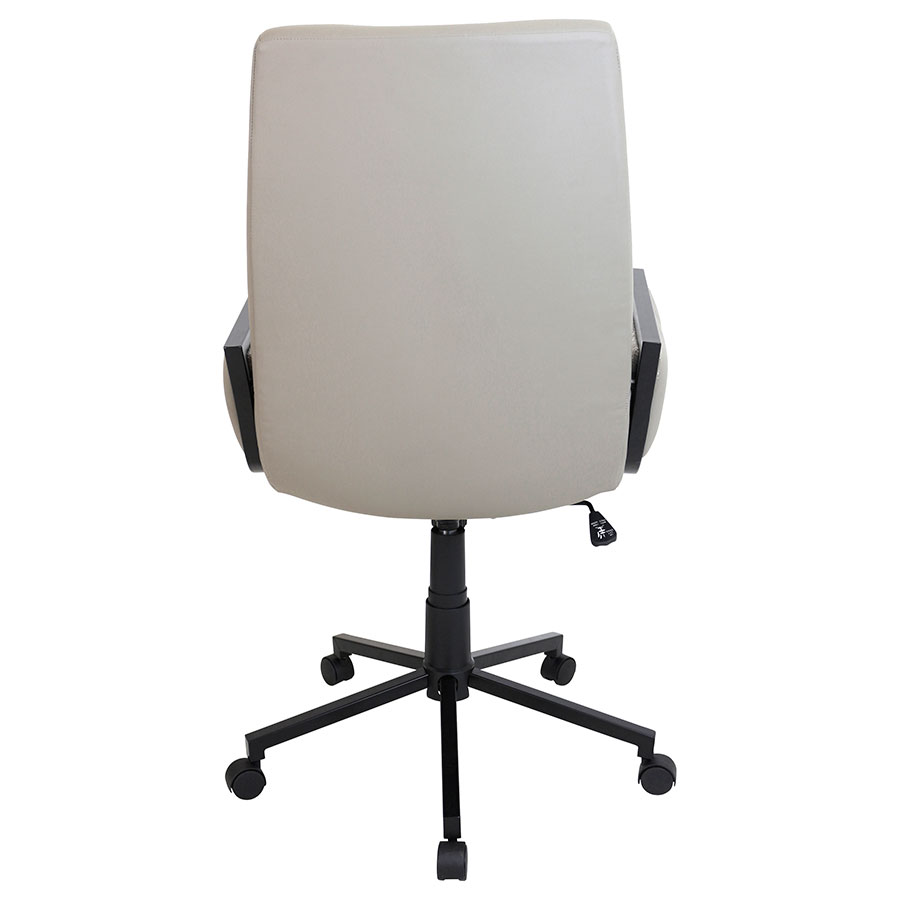 Genesis Tan Modern Office Chair - Back View
