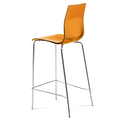 Geoffrey Orange Modern Bar Stool
