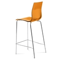 Geoffrey Orange Modern Bar Stool by Domitalia