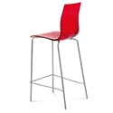 Geoffrey Red Modern Bar Stool by Domitalia