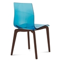 Geoffrey Blue Modern Dining Chair