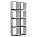 George Modern White + Grey Cubic Bookcase